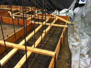 Wall Rebar in place along with wall key